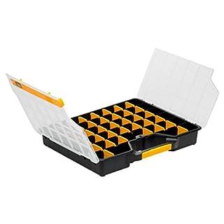 Allit 457430 Sortimentskasten, Sortierkasten schwarz, gelb, transparent 1 Stück