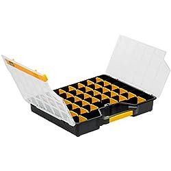 Allit Sortimentskasten, Sortierkasten, 1 Stück, schwarz, gelb, Transparent, 457430