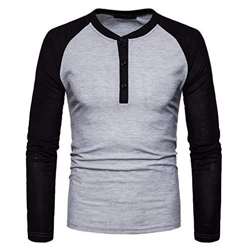 low priced 61d59 f5088 Homebaby Maglie a Manica Lunga Uomo Elegante,Vintage Top Casuale  Particolari Corte Tumblr T-Shirt Camicetta Felpe Autunno