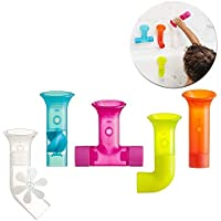 TOMY Boon Pipes Baby Bath Toy | Bath Accessories for Babies & Toddlers | 5 Multicoloured Water Pipes For Bath Time | Xmas Gifts & Stocking Fillers, Suitable For 1, 2 3 & 4 Year Olds