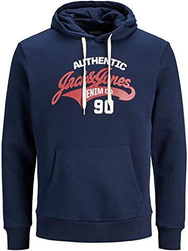JACK & JONES Herren Kapuzenpullover Hoodie Core Storm Sweatshirt Corp Logo 12137054 S M L XL XXL (L, 13 Blau) -