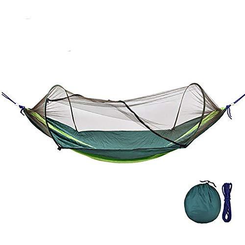Camping Hängematte mit Moskitonetz 260X140cm Tragfähigkeit 200kg Fallschirm Stoff Leicht Outdoor Wandern Schlafen Schaukel Bett Zelt,3# -