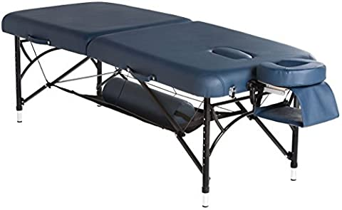 BodyPro® Active Deluxe Professional Lightweight Portable Massage Table - 7CM High Density Foam + Breathe Hole + Adjustable Contoured Face Cushion + Reiki Panels + Carry Case + Storage Shelf - 13Kg