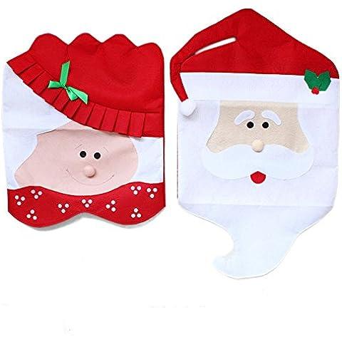 Aohro Mr & Mrs Copri Sedie Cappello di Babbo Natale Indietro Imposta coperture Cena decorazione di Natale Decora la stanza
