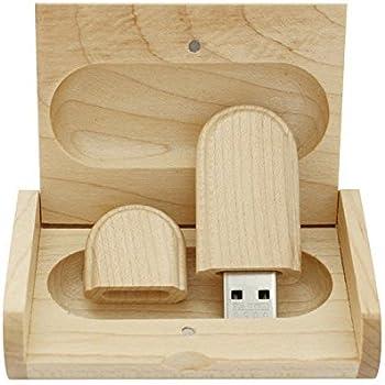 Yaxiny Unidad flash USB 2.0 de madera de arce con caja de madera ...