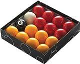 Powerglide Rojo y Amarillo estándar Bolas de Billar-Todos los tamaños...