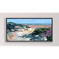 Beach Painting on Canvas Original Modern Seascape Large Wall Art Home Decor Gift
