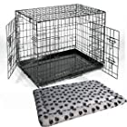 Large 36″ Black Metal Dog Training Cage Carrier including Luxury Fitted Bedding