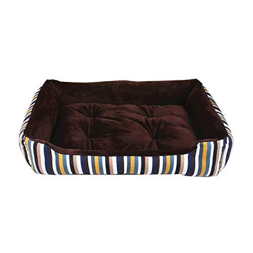 Eternity Bliss Dog Bed Mat Kennel Soft Dog Puppy Warm Bed Plush Cozy Nest for Small Medium Large Dog House Pad,E,50X38X15Cm