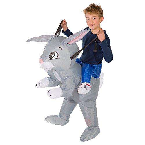 Bodysocks® Aufblasbares Hasen Kostüm für Kinder (Niedliche Alice Im Wunderland Kostüm)