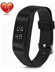LENDOO C5 Smart Bracelet Connecté Fitness Montre sport Tracker d'Activité Santé Montre Connectée Sport Etanche IP67 Bluetooth 4.0, Suivi du Sommeil Podomètre Alertes Appel SMS, Compatible Avez Smartphone Android iPhone