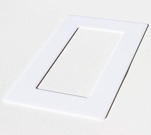 Acrylglas Dekorrahmen weiß 1-fach 2-fach 3-fach Tapetenschutz Wandschutz für Lichtschalter und Steckdosen (weiß 2-fach)