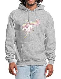 070242867a78 chenjing custom Homme Sweats à Capuche Rainbow Colored Unicorn Imprimé  Hoodie Adulte Pull à Manches Longues