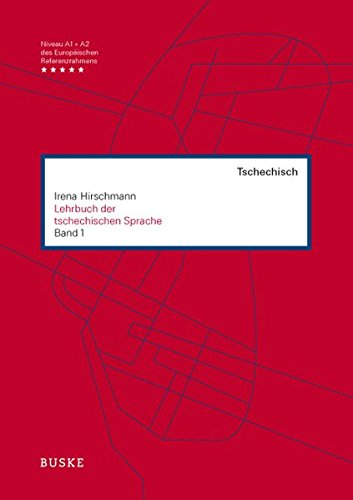 Lehrbuch der tschechischen Sprache 1