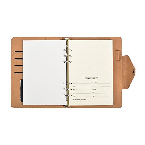 ARPAN A5-Format, liniert, Nachfülleinlagen für A5 Executive Personal Organizer, liniert, nur Nachfüllblätter 100 Blatt