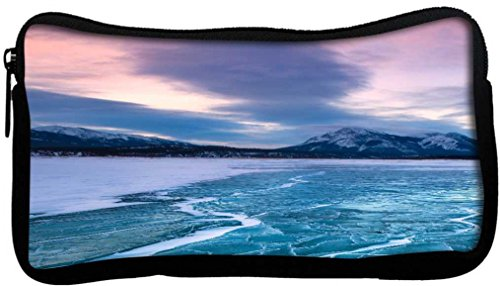 Snoogg Nature Frozen Sea Poly Canvas Student Pen Pencil Case Coin Purse Utility Pouch Cosmetic Makeup Bag  available at amazon for Rs.225