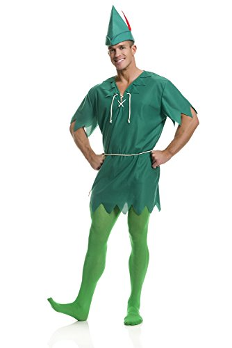 Peter Kostüm Mann Pan - Peter Pan Adult Costume Xlarge