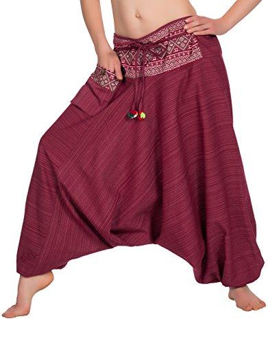Zarlena Pantaloni da Donna Harem Aladin 778 – rosso