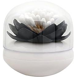 1pc Lotus Decoración para el hogar palillo de dientes recipiente para el algodón torunda titular caja de almacenaje 4colores, plástico, negro, talla única