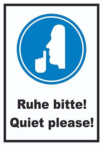 HB-Druck Ruhe Bitte Quiet Please Schild A4 (210x297mm)
