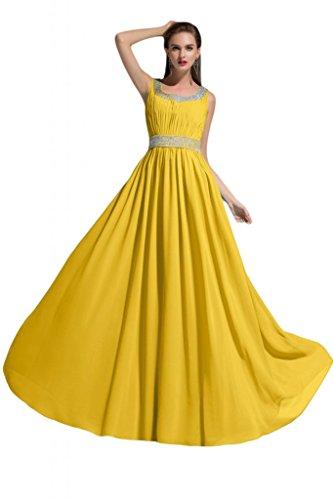 Sunvary Champagne Flower una linea strass Gowns increspata per damigella d'onore, per abiti da sera Champagne