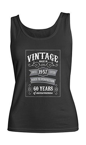 Vintage Made In 1957 60 Years Birthday Femme Tank Top Debardeur Noir
