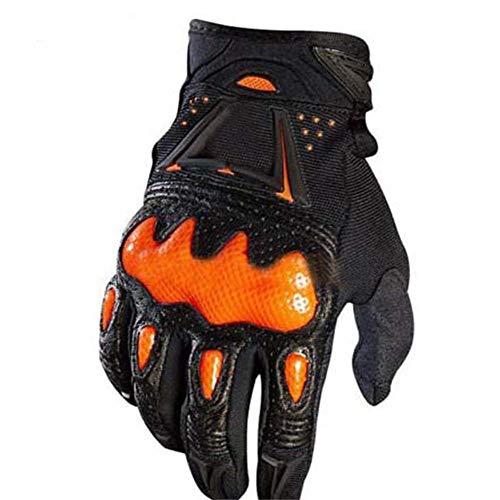 Wovemster Taktische Handschuhe Motorrad Herren Vollfinger Mit Gepolstertem Rückenseite Geeignet Für Outdoor Sports Ritter Motorrad Motocross,XL(Orange) (Orange Katze Kostüm Kind)