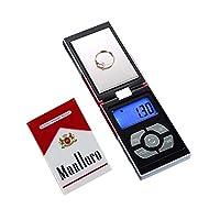 200 جرام / 0.01 جرام مقياس جيب رقمي عالي الدقة مجوهرات مقياس السجائر صندوق الشكل ميزان شكل ميزان ميزان ميزان ميزان ميزان سجائر