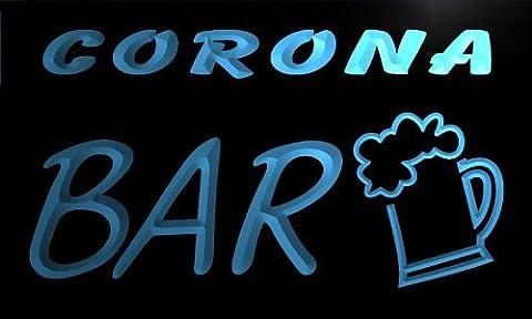 Enseigne Lumineuse pv2209-b Corona Bar Beer Mug Glass Pub Neon Light Sign
