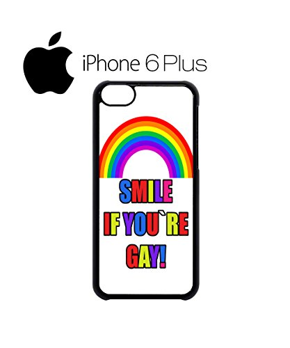 Smile If You Are Gay Rainbow Mobile Phone Case Back Cover Hülle Weiß Schwarz for iPhone 6 Plus White Weiß