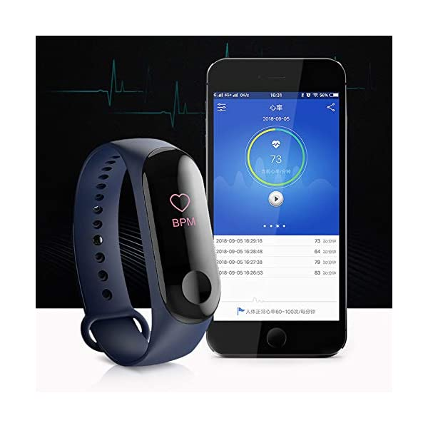Monitor de actividad física, pantalla a color, monitor de presión arterial, frecuencia cardíaca, contador de pasos… 4