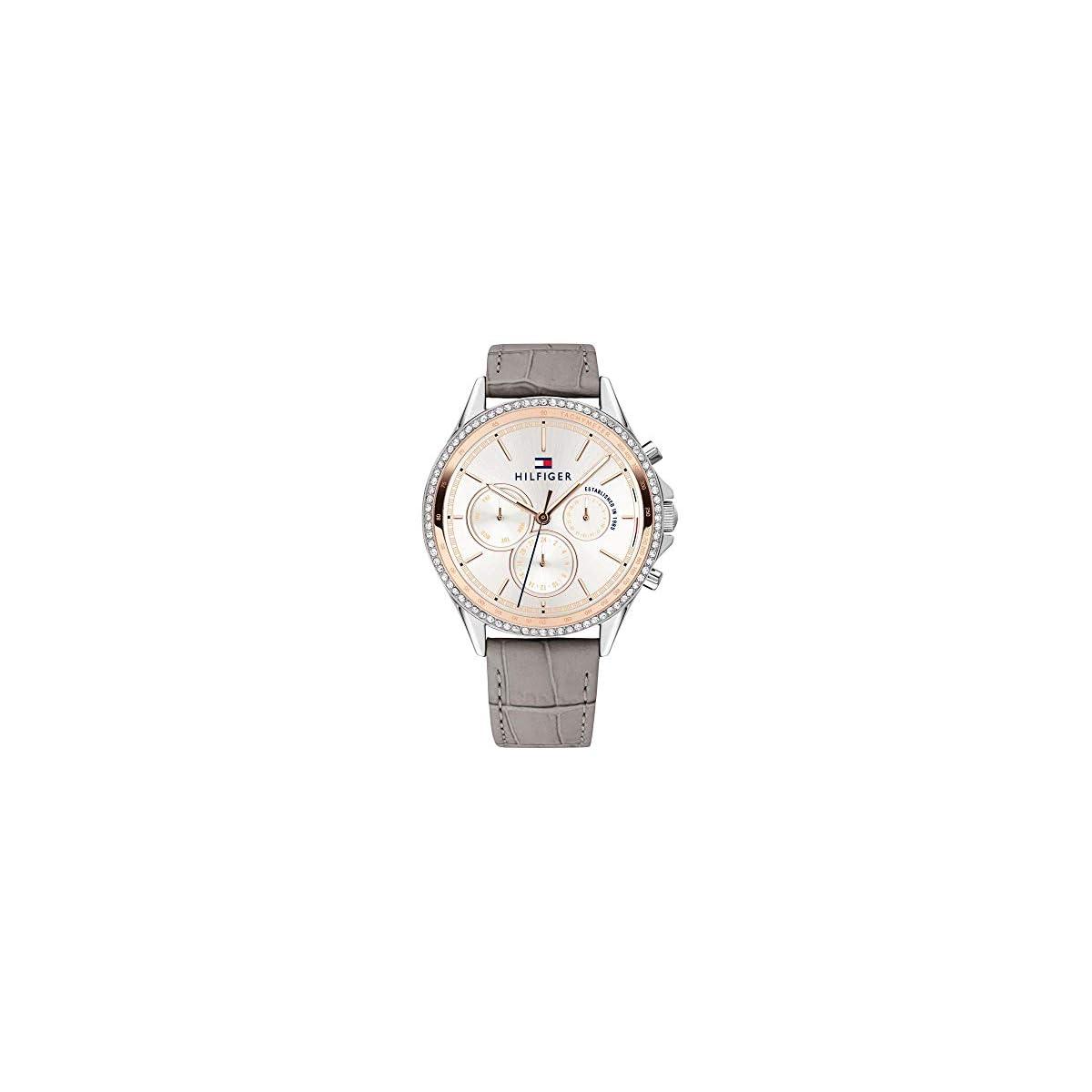 41XbRyEbGpL. SS1200  - Tommy Hilfiger Reloj Multiesfera para Mujer de Cuarzo con Correa en Cuero 1781980