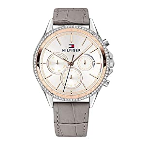 Tommy Hilfiger Womens Multi dial Quartz Watch with Leather Strap 1781980