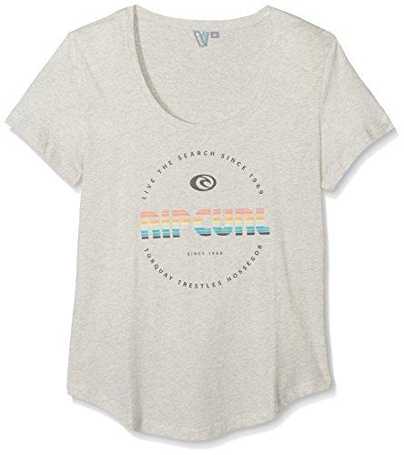 Rip Curl Active-Maglietta a maniche corte con Logo, colore: bianco ecrù maglia, taglia XL