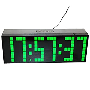 LambTown 12 24 Stunden Moderne Stille Fhrte Digital Wand Schreibtisch Uhr Mit Mehreren Warnungen Kalender Temperatur