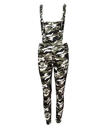 few24 damen camouflage latzhose bekleidung. Black Bedroom Furniture Sets. Home Design Ideas