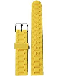 20 mm Mango amarillo jalea del caucho de silicón de los hombres de señora reloj de las correas Band