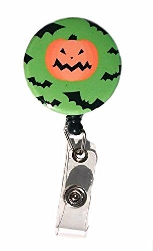 Halloween Kürbis & Fledermäuse Retractable Badge Reel ID Badge Holder
