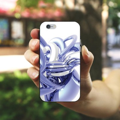Apple iPhone X Silikon Hülle Case Schutzhülle Knoten Chrom Eis Silikon Case schwarz / weiß