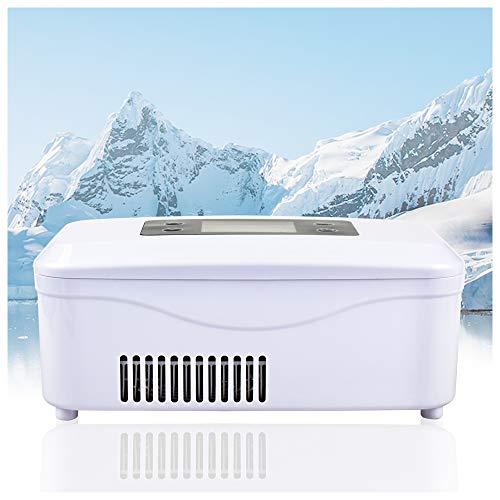 REAQER Tragbare Insulin-Kühlbox 2-18 ° C gekühlte Box Kühltasche Reefer Car Kühlschrank Größe 21 * 10 * 9cm für Auto, Reisen, Flugzeug - Zeit Medikamente