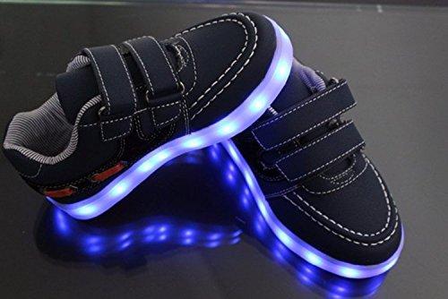 (Présents:petite serviette)JUNGLEST® Enfants fille garçon a mené la lumière jusquà formateurs de sneakers chaussures de sport Chaussures Black