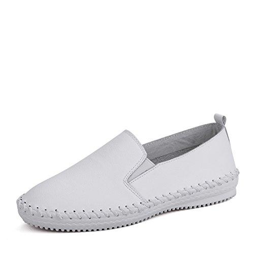 Version coréenne au printemps peu blanc chaussures femme/Chaussures plates/Chaussures sport en cuir/Chaussures blanc/Chaussures femme A