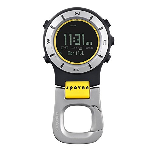 JUSHENG Spovan 3ATM Waterproof Spovan Element II Multifunction Outdoor Sports Handheld Watch Barometer Altimeter Thermometer Compass Stopwatch