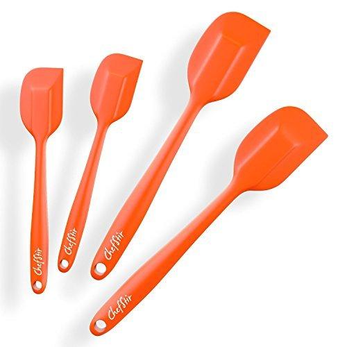 ChefStir Silicone Spatula Set of 4 - Heat Resistant Kitchen Spatulas - Best...