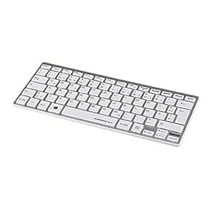 Hama Rossano 2.4 - keyboards (RF Wireless, Battery, Silver, White, PC/server, Mini, Straight)