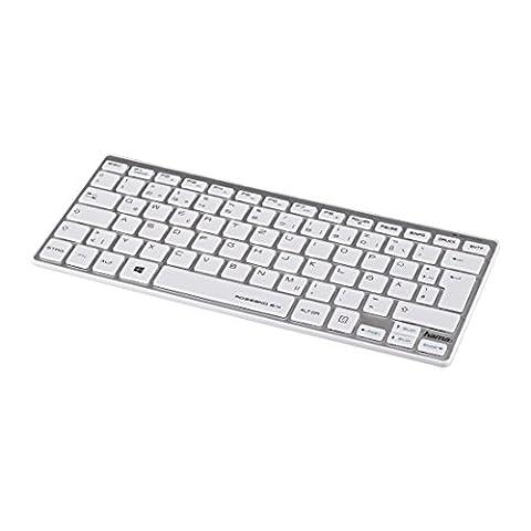 Hama PC Funktastatur (Rossano im Slim-Design, QWERTZ Tastatur Layout, kabellos 2,4GHz Funk)