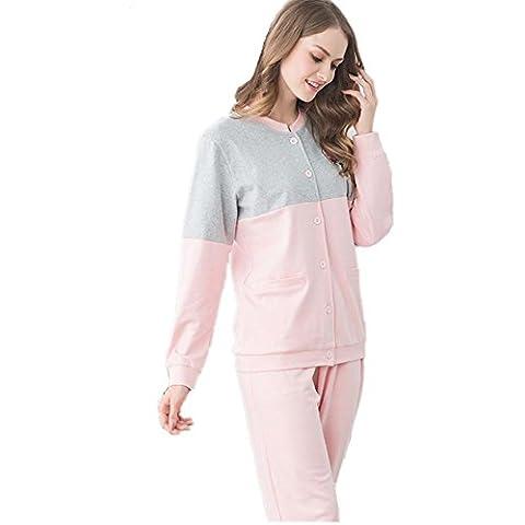 DMMSS Coppia pigiama cotone tempo libero sciolto manica lunga pigiama