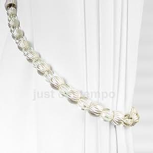 Cream Crystal Beaded Rope Curtain Tie Backs Tieback