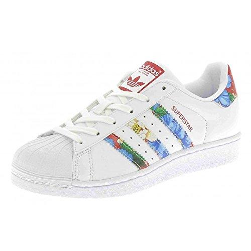adidas-superstar-w-scarpe-da-ginnastica-basse-donna-bianco-ftwwht-ftwwht-powred-38-eu