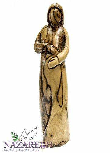 Hand geschnitzt Olive Holz schwanger Marienstatue 7.9